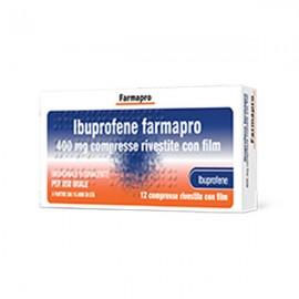 Ibuprofene Farmapro 400 mg, 12 compresse rivestite