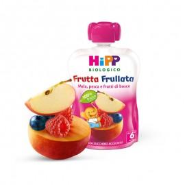 Hipp Bio Frutta Frullata Mela, Pesca e Frutti di Bosco, 90 gr