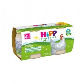 Hipp Bio Omogeneizzati Carne Pollo, 2x80 gr