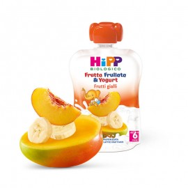 Hipp Bio Frutta Frullata con yogurt Frutti Gialli, 100 gr