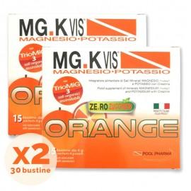 MG.KVIS Magnesio-Potassio Orange Ze.ro Zuccheri, 15 + 15 bustine