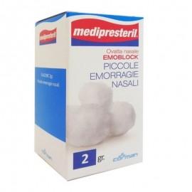 Medipresteril Ovatta Nasale Emoblock, 2 gr