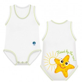 J BIMBI Body estivo neonato in cotone biologico Sealife Stella Marina, 1 pz