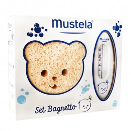 Mustela Set Bagnetto - Spugna, Termometro, Shampoo e Mille Bolle