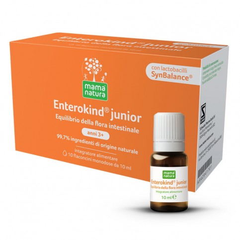 Mama Natura Enterokind junior 3-12 anni, 10 flaconcini da 10 ml