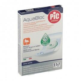 PIC Cerotto post operatorio AquaBloc 5x7 cm, 5 pezzi