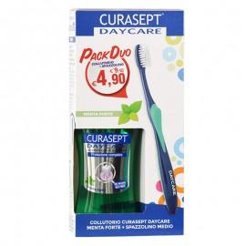 Curasept Daycare Collutorio menta forte 250 ml + spazzolino medio