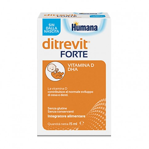 Ditrevit Forte integratore di Vitamina D e DHA, 15 ml