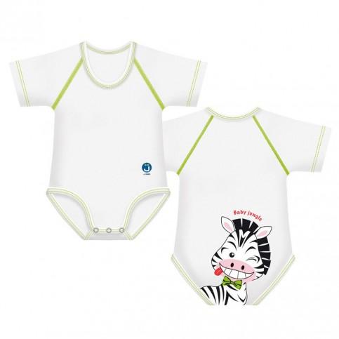 J Bimbi Body Neonato 4 Stagioni in cotone bio Zebra, 1 pz