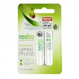 NeoBio Cura Labbra Stick con Aloe e Oliva, 2 pz da 4.8 g cad