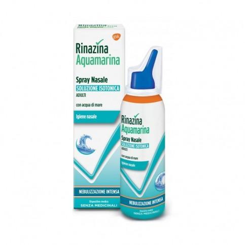 Rinazina Aquamarina Isotonica Aloe Spray Nebulizzazione Intensa, 100 ml