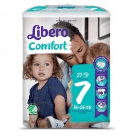 Libero Comfort Taglia 7 16-26 kg, confezione da 21 pannolini