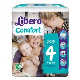 Libero Comfort Taglia 4 7-11 kg, confezione da 26 pannolini