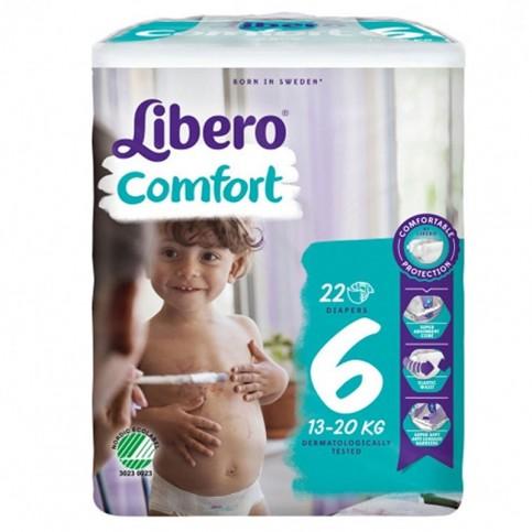 Libero Comfort Taglia 6 13-20 kg, confezione da 22 pannolini