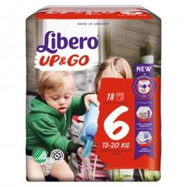 Libero UP&GO Taglia 6 13-20 kg, confezione da 18 pannolini