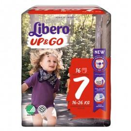 Libero UP&GO Taglia 7 16-26 kg, confezione da 16 pannolini