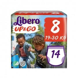 Libero UP&GO Taglia 8 19-30 kg, confezione da 14 pannolini