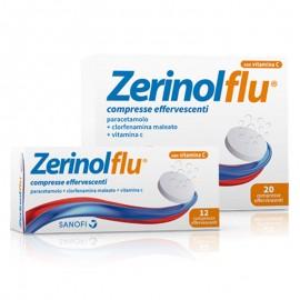 Zerinolflu 300 mg – 2 mg - 250 mg, 12 compresse effervescenti