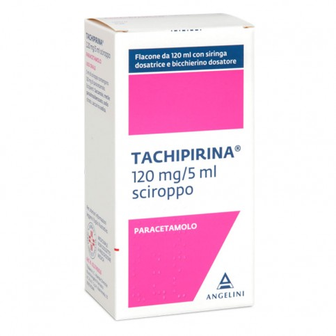 Tachipirina Sciroppo 120mg/5ml, flacone da 120ml con bicchierino dosatore
