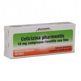 Cetirizina Pharmentis 10 mg, 7 compresse rivestite