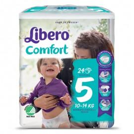 Libero Comfort Taglia 5 10-14 kg, confezione da 24 pannolini