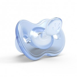 Nuvita Orthosoft Light Succhietto Silicone, 1 ciuccio blu