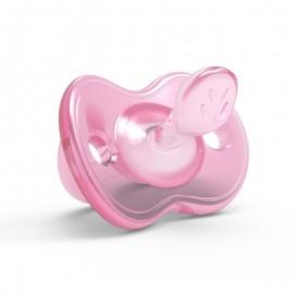 Nuvita Orthosoft Light Succhietto Silicone, 1 ciuccio rosa