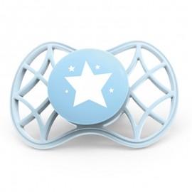Nuvita Air55 Succhietto Cool simmetrica 0m+, 1 ciuccio blu