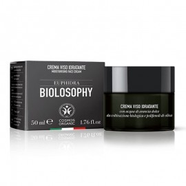 Euphidra Biolosophy Crema Viso Idratante, vaso da 50 ml