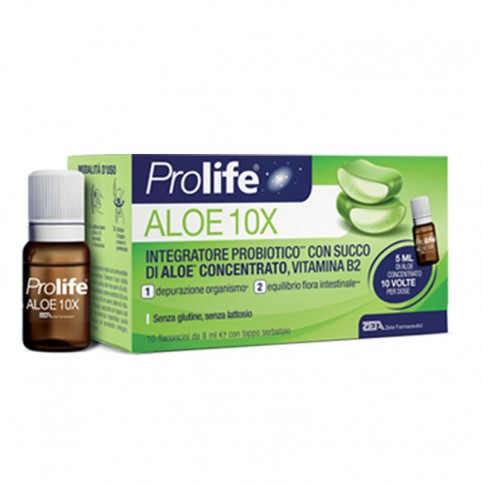 Prolife Aloe 10X, 10 flaconcini da 8 ml