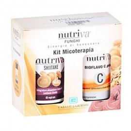 Nutriva Kit Micoterapia - Shiitake + Bioflavo C Plus