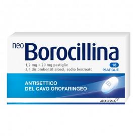 NeoBorocillina Pastiglie 1.2 + 20 mg, 16 pastiglie gusto Menta