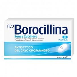 NeoBorocillina Pastiglie 1.2 + 20 mg, 16 pastiglie gusto Menta senza zucchero