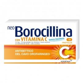 NeoBorocillina con Vitamina C, 16 pastiglie gusto limone senza zucchero