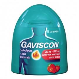 Gaviscon Compresse 250 mg + 133.5 mg, 16 compresse masticabili gusto Fragola