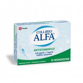 Collirio Alfa Antistaminico 0,8 mg/ml + 1 mg/ml, 10 contenitori monodose