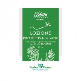 Ledum The Wall Lozione Protettiva anti zanzare, 14 salviette monouso