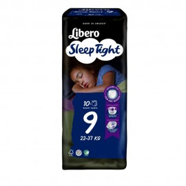 Libero SleepTight 9 - 22-37 kg, 10 pannolini notte a mutanda