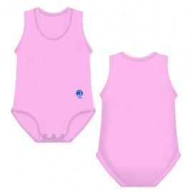 J Bimbi Body neonato estivo in cotone biologico senza maniche Rosa, 1 pz