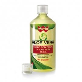 Winter Aloe Vera Succo con Polpa di Aloe Vera 99,5%, 1 litro