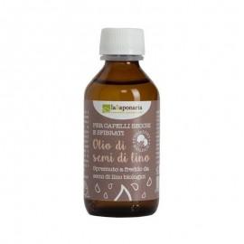 La Saponaria  Olio di Semi di Lino Bio, 100 ml