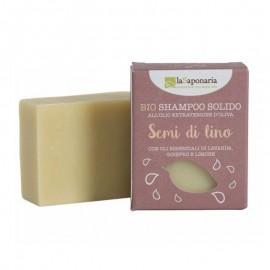 La Saponaria Bio Shampoo Solido ai Semi di Lino, 100 g