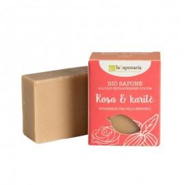 La Saponaria Sapone Rosa e Burro di Karitè, 100 g