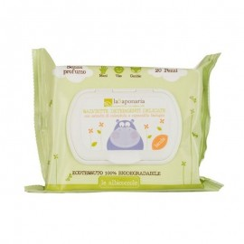 La Saponaria Bio Salviette Detergenti Delicate, 20 pz