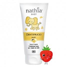 Nathia Dentifricio Baby gusto Fragola senza Fluoro, 50 ml