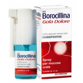 NeoBorocillina Gola Dolore Spray, flacone da 15 ml