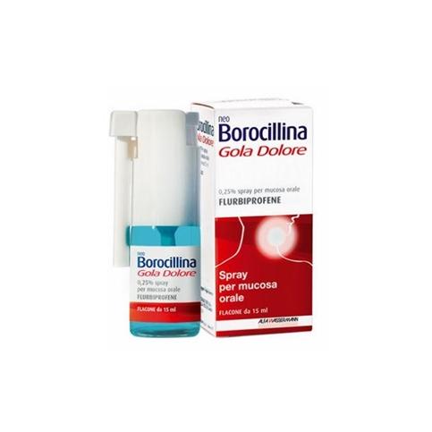 NeoBorocillina Gola Dolore Sprayf, flacone da 15 ml