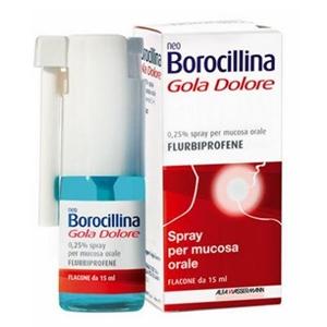 NeoBorocillina Gola Dolore Spray, flacone da 15 ml
