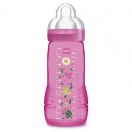 MAM Easy Active, Biberon da 330 ml 4+ mesi - Rosa Femmina, 1 pezzo
