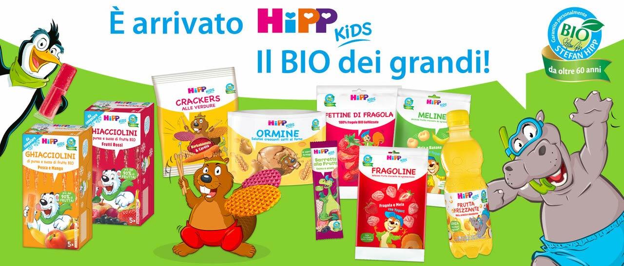 HiPP Kids, la gamma completa di prodotti appositamente studiati per soddisfare le speciali esigenze nutrizionali dei bambini a partire dai 3 anni.